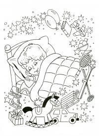 Мечты на новый год Зимние рисунки раскраски