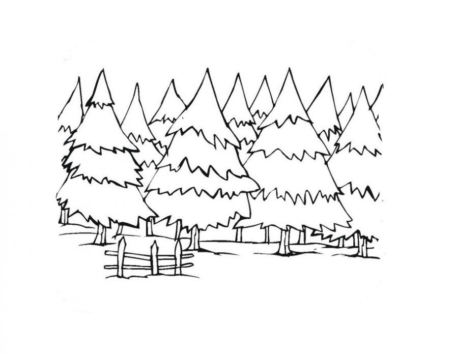 Раскраска Зимние забавы бесплатно распечатать. | 696x894