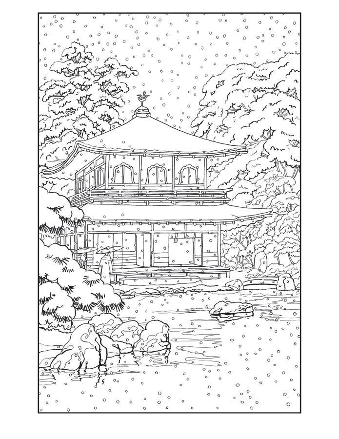 Зима в китае Раскраски зима распечатать бесплатно