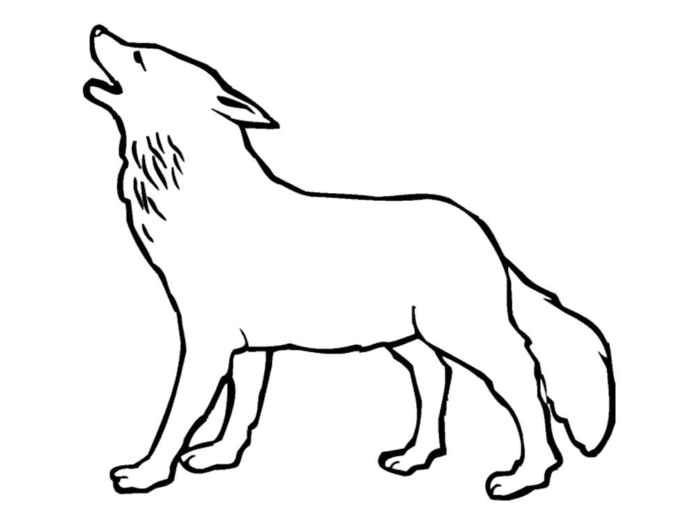 Волк Раскраска сказочная зима