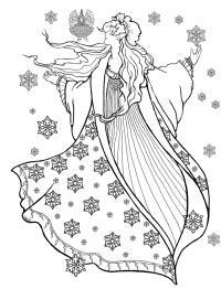 Эльфийка Раскраски про зиму для детей