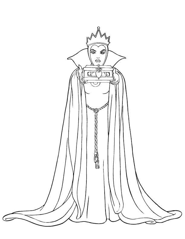 Снежная королева из диснеевской сказки Зимние раскраски для мальчиков