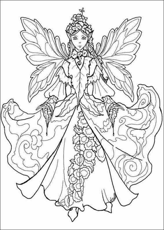 Красивая фея Раскраски про зиму для детей