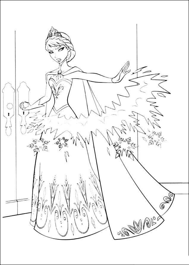 Эльза колдует Зимние раскраски для мальчиков