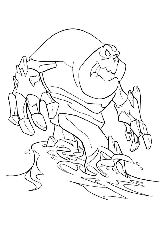 Снежное чудовище Зимние рисунки раскраски