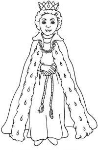 Снежная королева Раскраски про зиму для детей