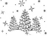 Под первым снегом Раскраска зима распечатать