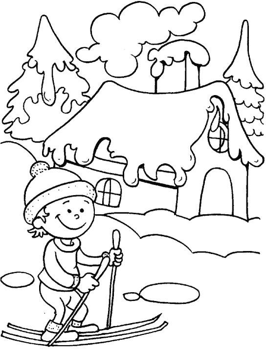 Зима Раскраски зима распечатать бесплатно
