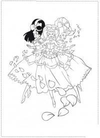 Девушки в костюмах принцесс Раскраски про зиму для детей
