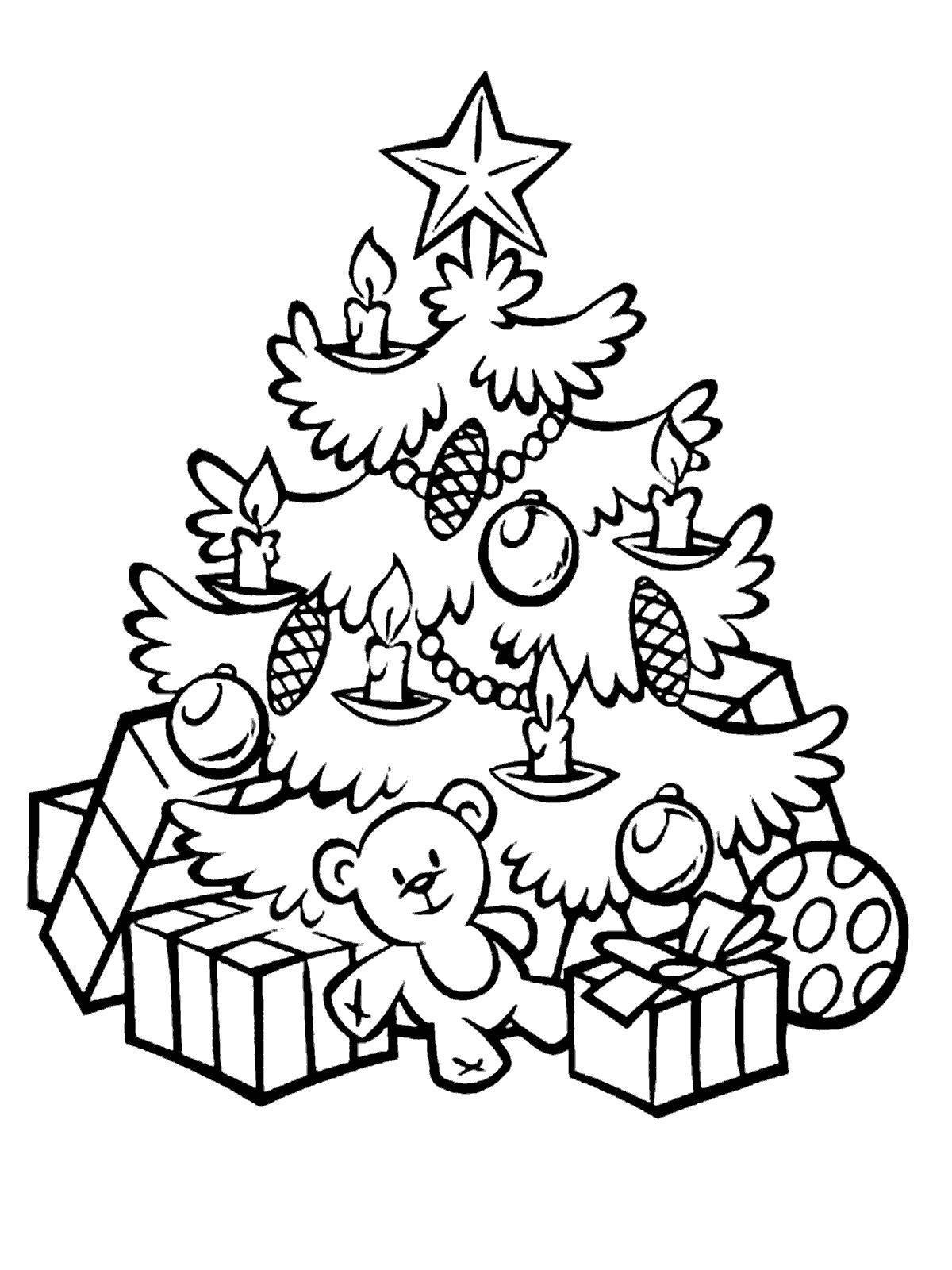 Новогодняя елка Зимние раскраски для девочек