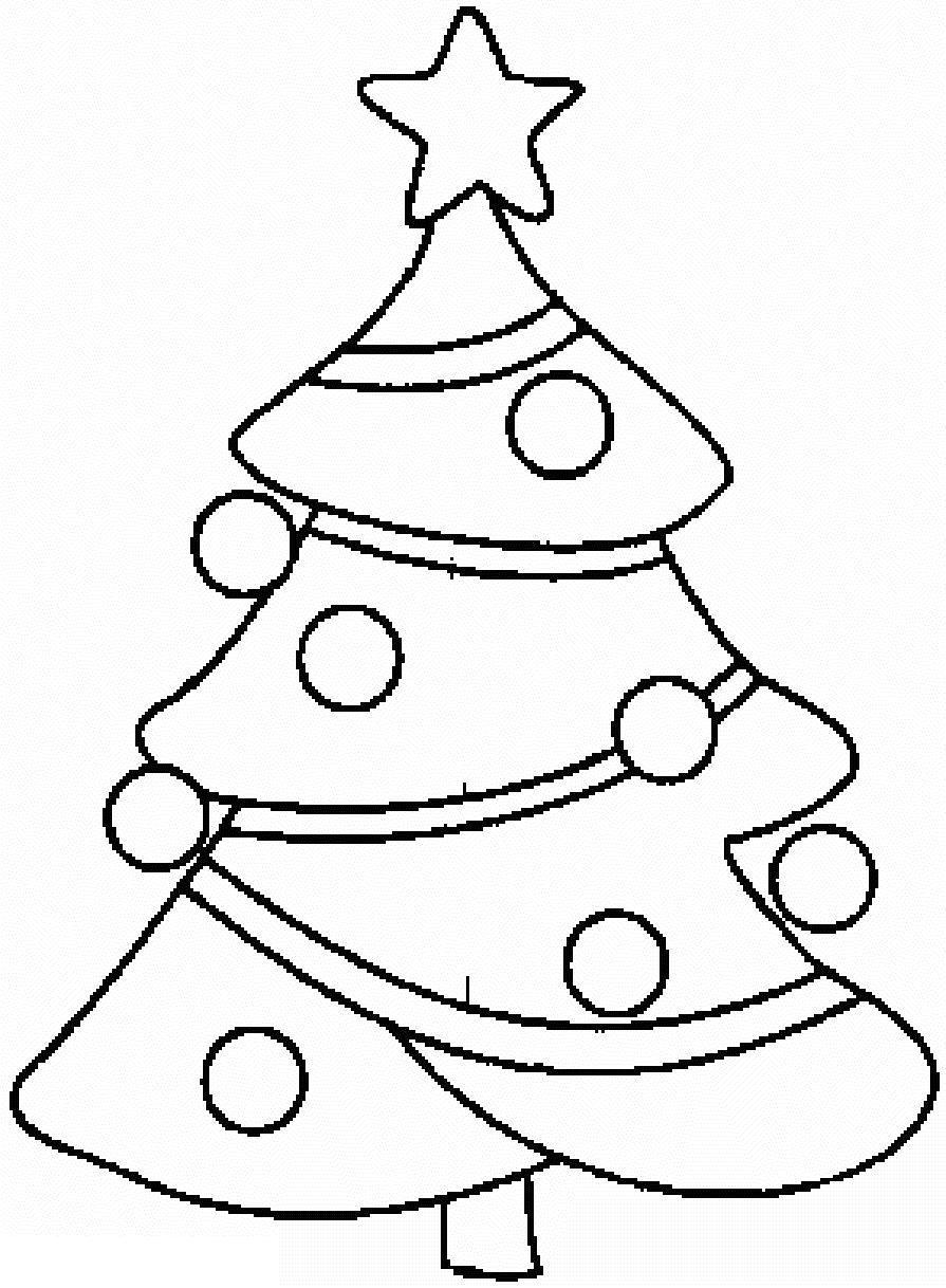 Новогодняя елка Зимние раскраски для малышей