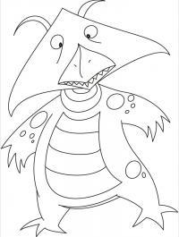 В костюме дракоши Раскраски про зиму для детей