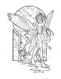 Зимний ангел Раскраски про зиму для детей