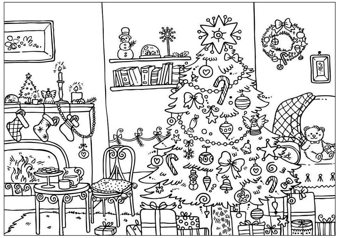 Новогодние раскраски антистресс