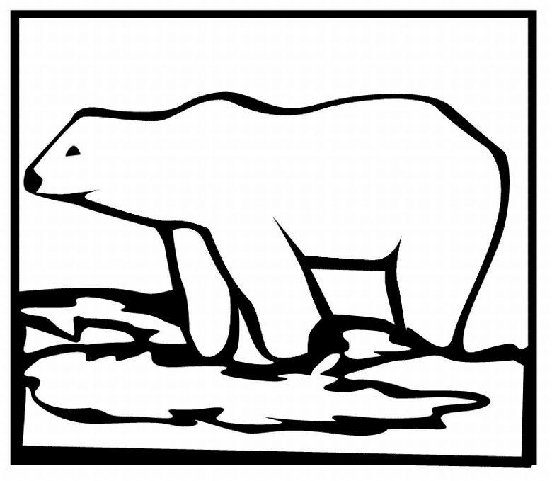 Полярный медведь Раскраска зима пришла