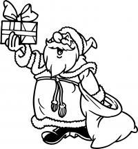 Подарки с севера Раскраска сказочная зима