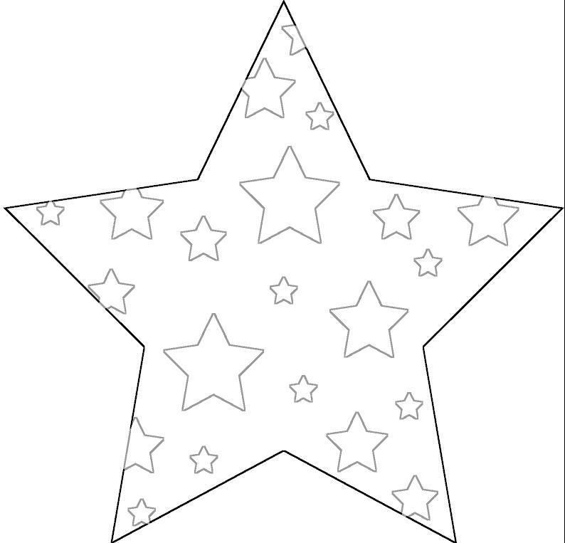Раскраски новогодние звёзды