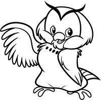 Северная сова Зимние раскраски для малышей