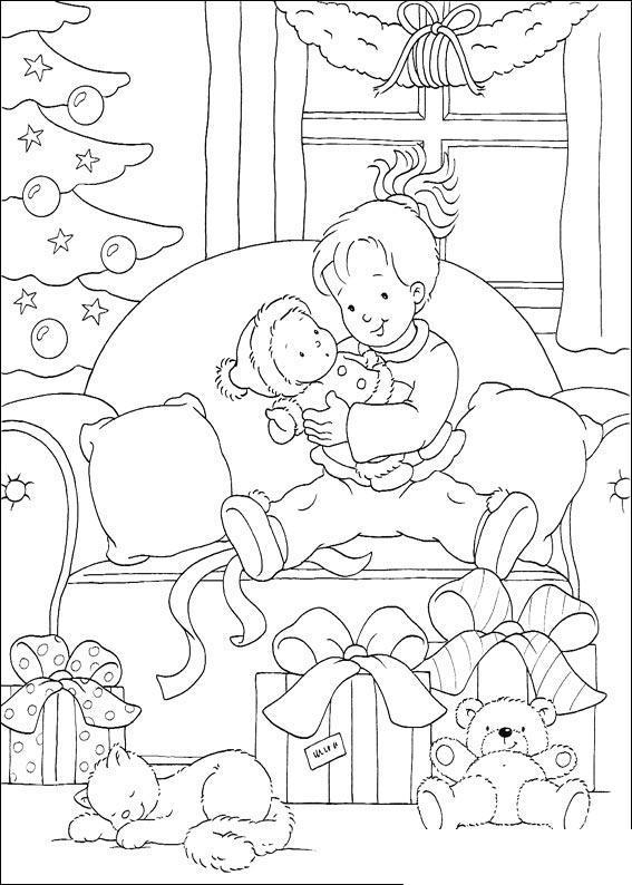 В ожидании нового года Зимние раскраски для девочек