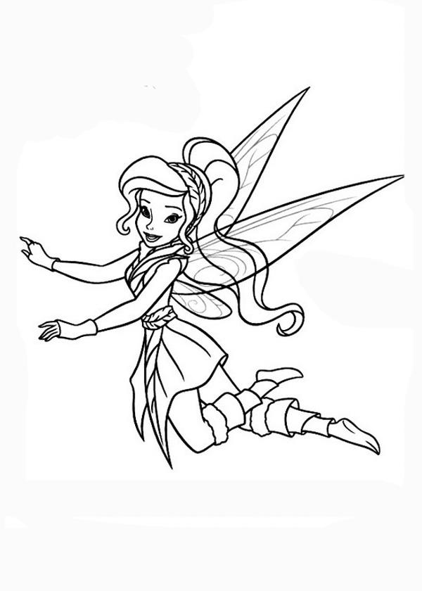 Лесная фея Раскраски на тему зима