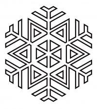 Снежинка из треугольничков Раскраски для детского сада