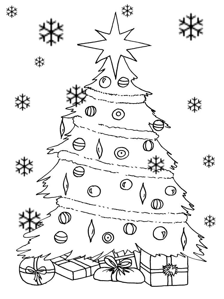 Фото ёлки новогодней раскраска