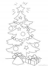 Новый год, елочка Зимние рисунки раскраски