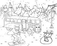 Зимние городские забавы Раскраски про зиму для детей