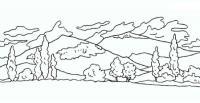 Горы Раскраска зима