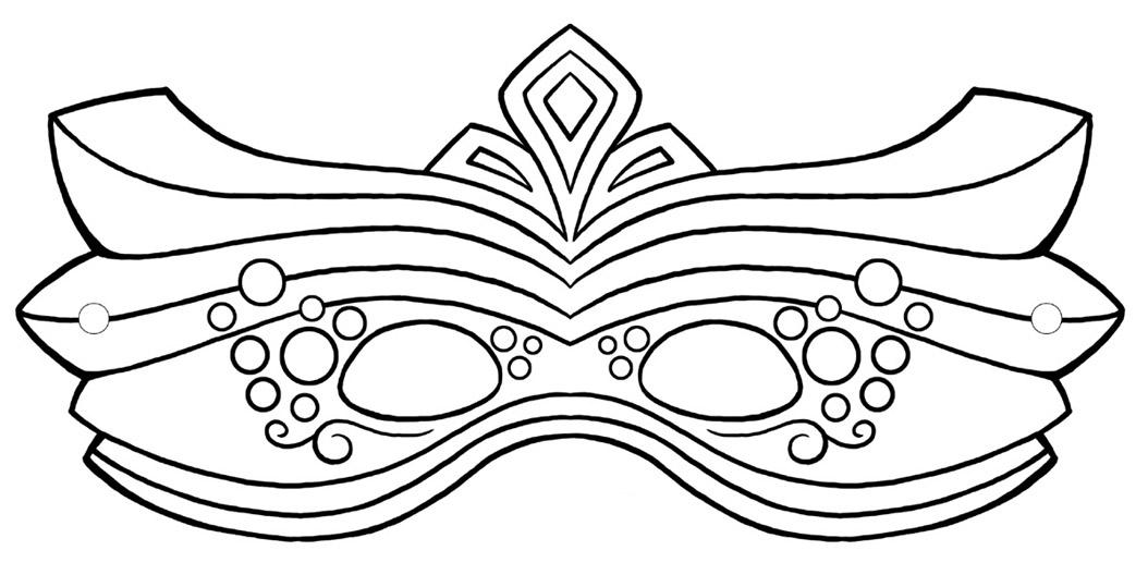 Красивы карнавальные маски Раскраски про зиму для детей