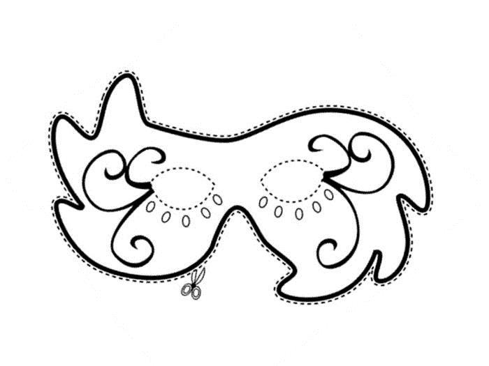 Трафарет для маски Раскраски про зиму для детей
