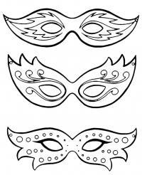 Красивые маски Раскраски про зиму для детей