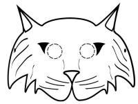 Маска пушистого кота Раскраски про зиму для детей