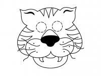 Маска тигра Раскраски про зиму для детей