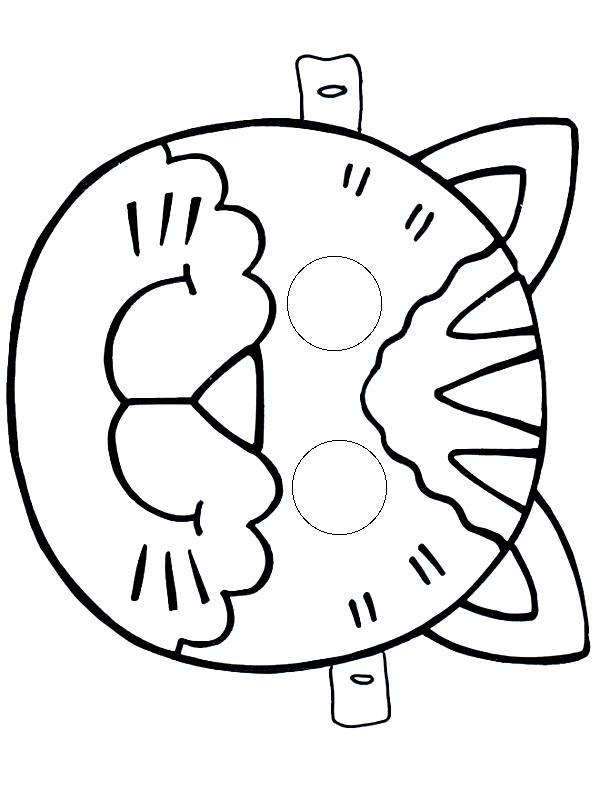 Маска кошки Раскраски зима скачать бесплатно