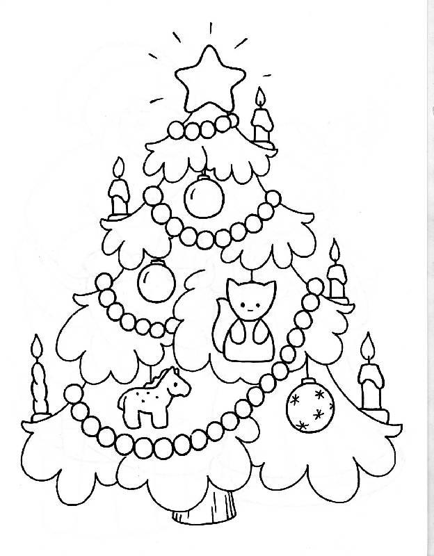 Маленькая елоска Раскраски на тему зима