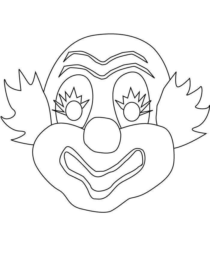 Маска клоуна Зимние раскраски для мальчиков