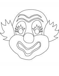 Маска клоуна Раскраски про зиму для детей