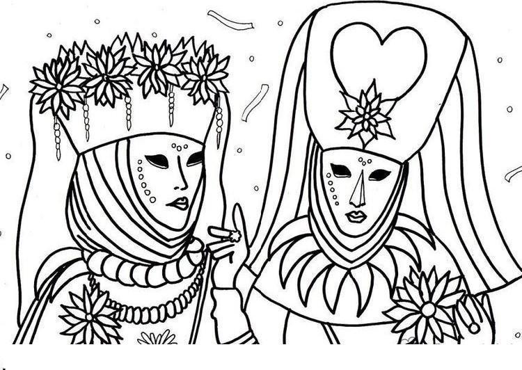 Новогодний карнавал Раскраска зима распечатать