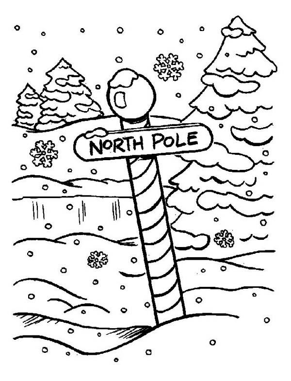 Северный полюс Раскраска зима распечатать
