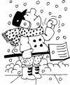 Идет снег Раскраска зима распечатать