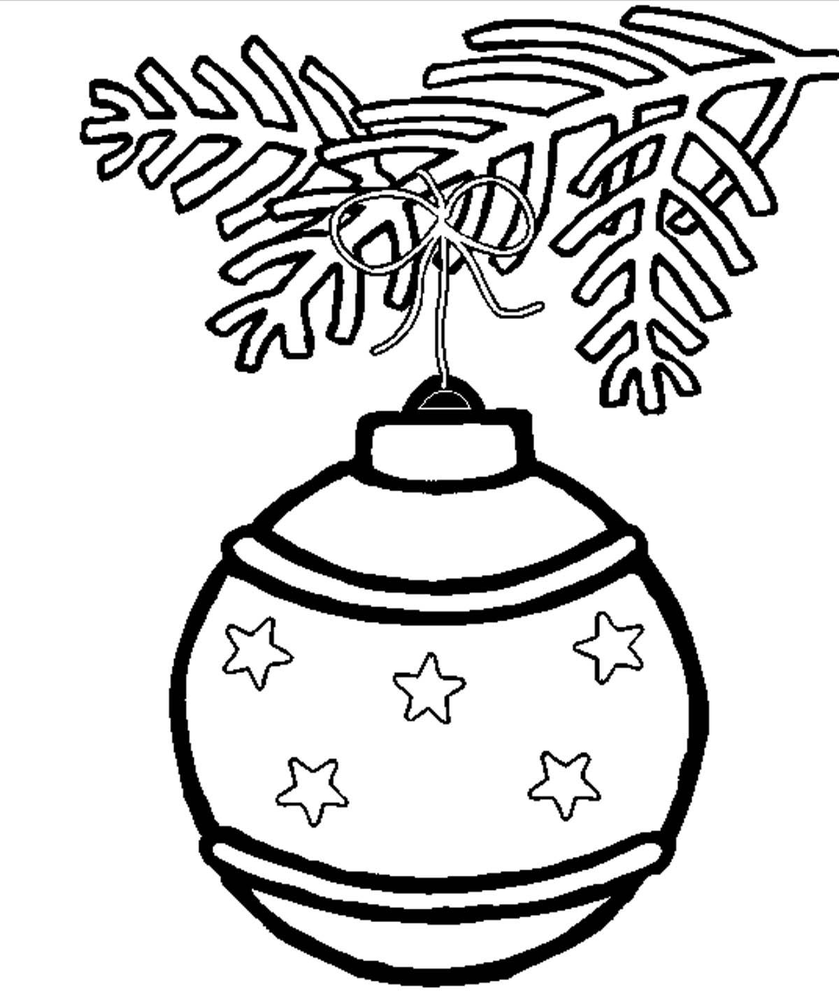 Шар со звездочками Зимние раскраски для мальчиков