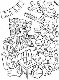 Открытки с снегурочкой Раскраски зима скачать бесплатно