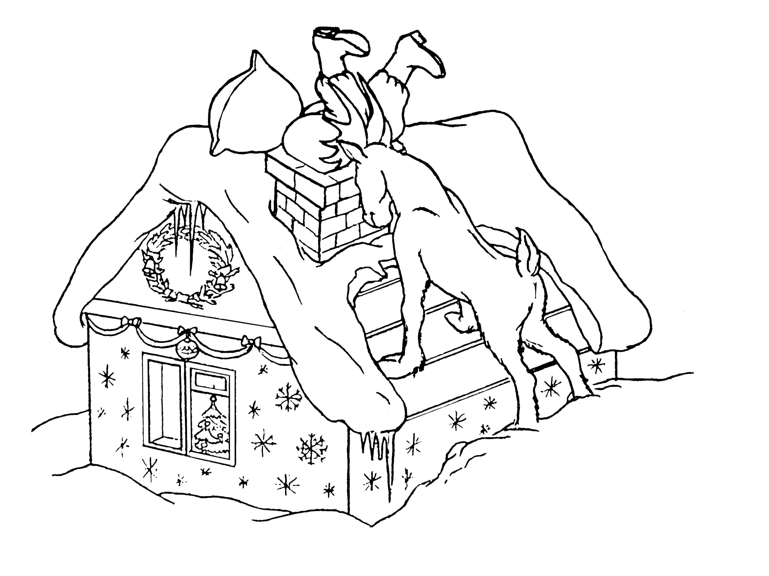 Прикольные открытки Раскраска зима пришла