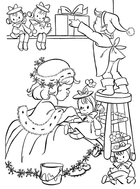 Готовим подарки к новому году Детские раскраски зима распечатать