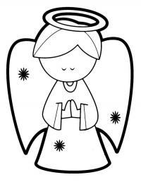 Ангел Детские раскраски зима распечатать