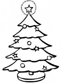 Новогодняя елка на подставке Раскраски на тему зима