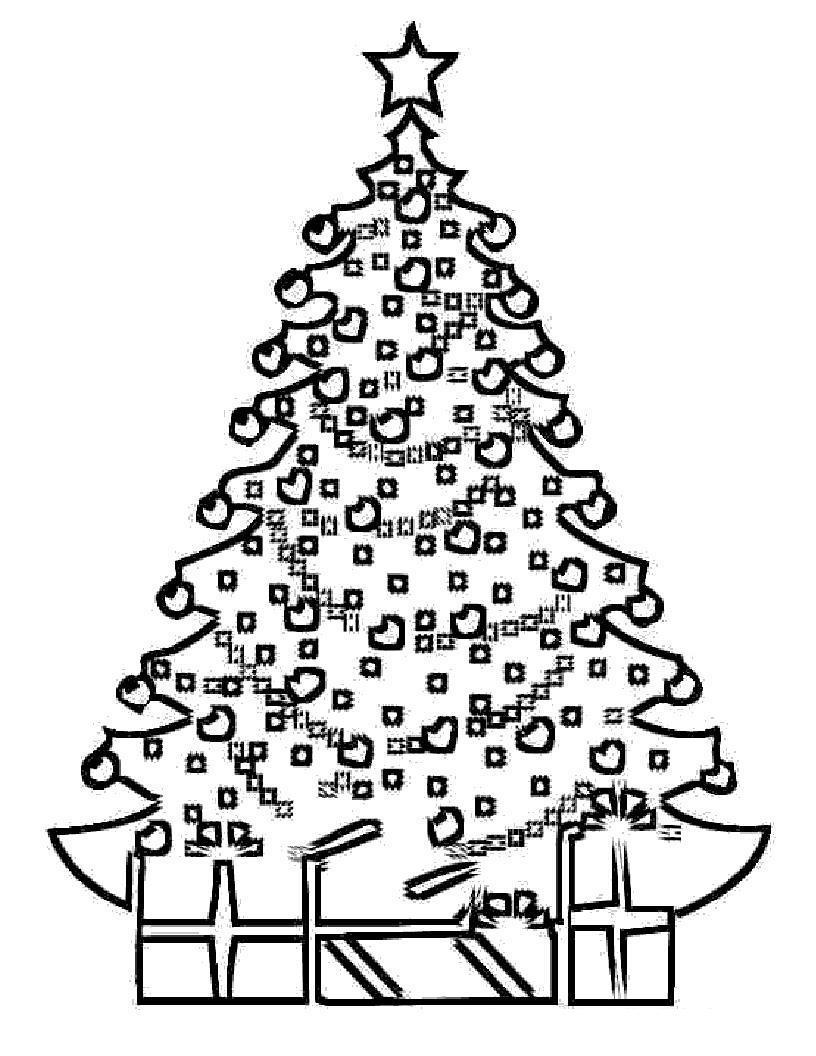Оригинальная новогодняя елка Раскраски на тему зима
