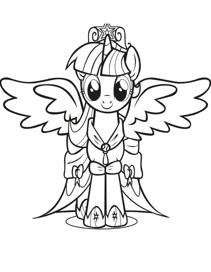 Май литл пони с крыльями пони Зимние раскраски для девочек