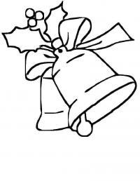 Новый год, рождественские колокольчики Детские раскраски зима распечатать
